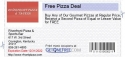 Free Pizza Deal