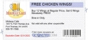 FREE CHICKEN WINGS!