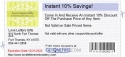 Instant 10% Savings!