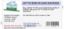 UP TO $300 IN GAS SAVINGS