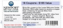 18 Coupons - $165 Value