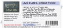 LIVE BLUES, GREAT FOOD