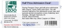 Half Price Admission Deal!
