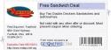 Free Sandwich Deal