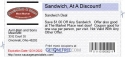 Sandwich, At A Discount!