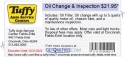 Oil Change & Inspection $21.95*