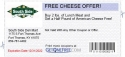FREE CHEESE OFFER!