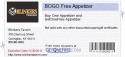 BOGO Free Appetizer